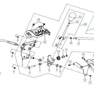 Механизм переключения передач для CFMOTO X4 Basic