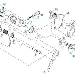 КПП 3 для CFMOTO X4 Basic