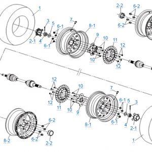 Передние колеса в сборе для CFMOTO X4 Basic