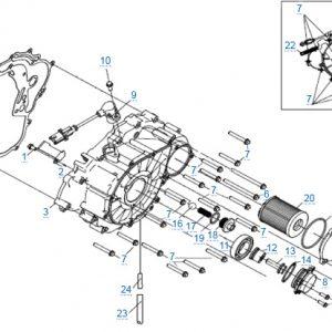 Крышка картера для CFMOTO X4 Basic