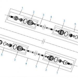 Передний привод в сборе (ODM) для CFMOTO X4 Basic