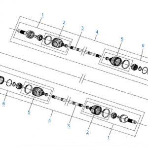 Передний привод в сборе (SPS) для CFMOTO X4 Basic