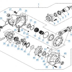 Передний редуктор для CFMOTO X4 Basic