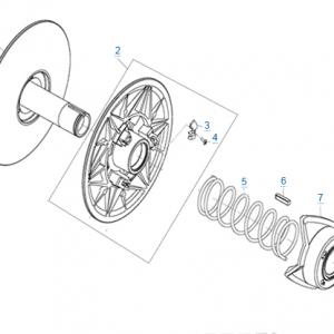 Ведомый шкив вариатора (cv-tech) для CFMOTO X4 Basic