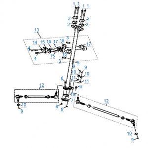 Рулевое управление для CFMOTO X4 Basic