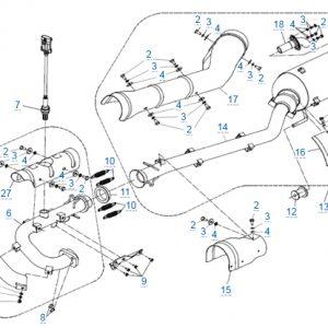 Система выпуска для CFMOTO X4 Basic