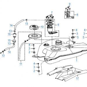 Топливная система для CFMOTO X4 Basic