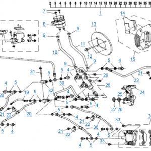 Тормозная система для CFMOTO X4 Basic