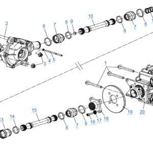 Трансмиссия для CFMOTO X4 Basic