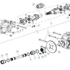 Трансмиссия v2 для CFMOTO X4 Basic