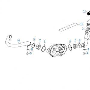 Трубки системы вентиляции вариатора для CFMOTO X4 Basic