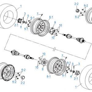 Задние колеса в сборе для CFMOTO X4 Basic