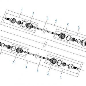 Задний привод в сборе (ODM) CFMOTO X4 Basic