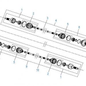 Задний привод в сборе (SPS) CFMOTO X4 Basic