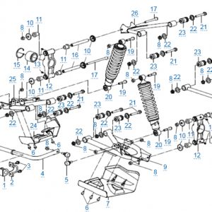 Задняя подвеска для CFMOTO X4 Basic