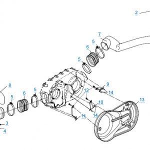 Трубки системы вентиляции вариатора (2014)