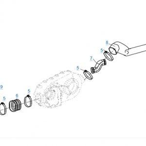 Трубки системы вентиляции вариатора